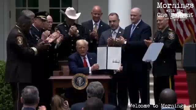 Trump Sign's Executive Order Banning Chokeholds & Safe Policing for Safe Communities