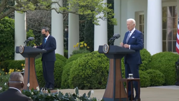 President Biden and Prime Minister Suga of Japan at Press Conference
